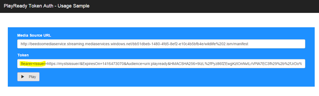 Azure Media Services : enable dynamic PlayReady content