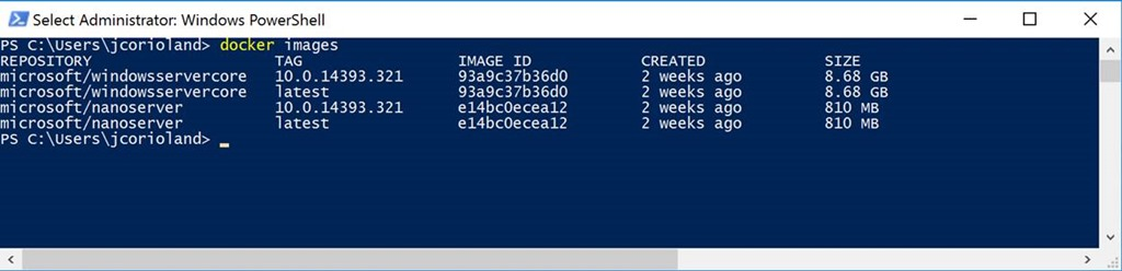 Gettings Started Windows Containers