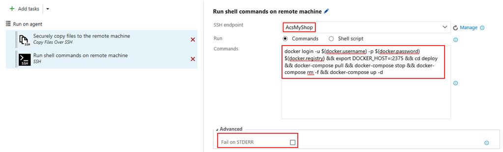 run docker compose file